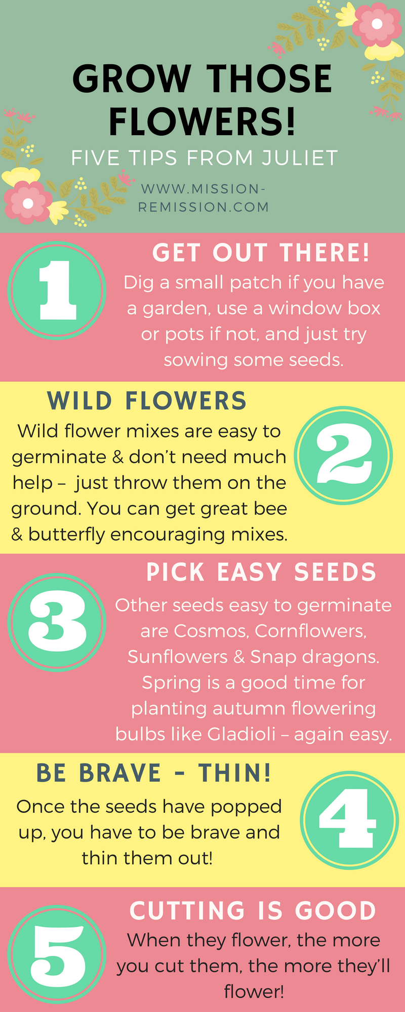 grow flowers after cancer